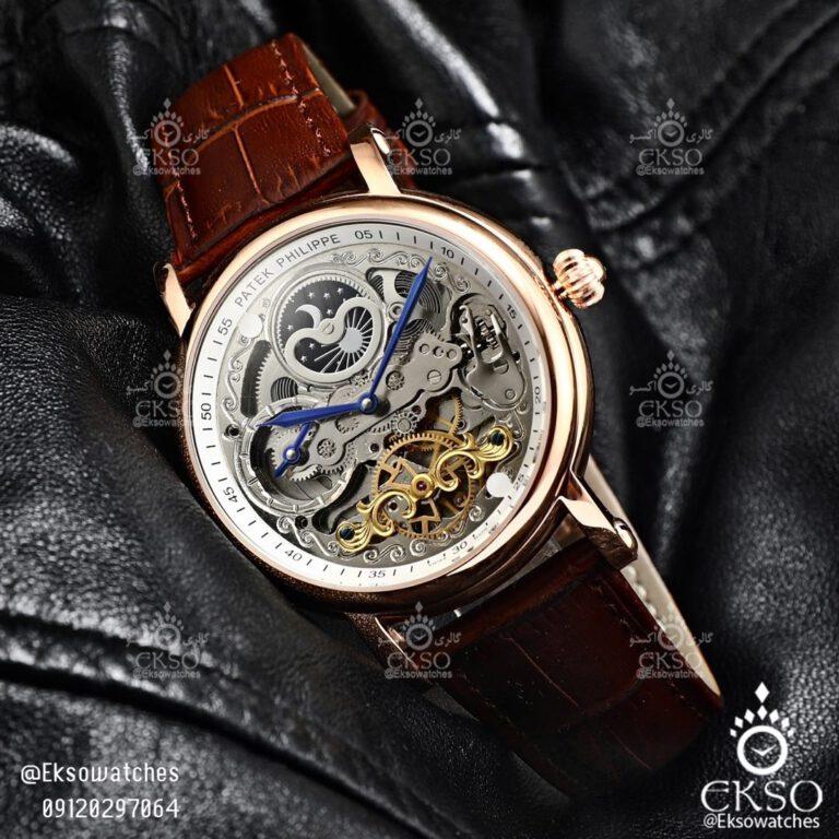ساعت مچی مردانه پتک فیلیپ اسکلتون مدل 1160 PATEK PHILIPPE